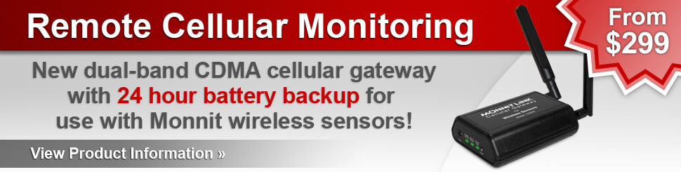 Remote Cellular Monitoring with Battery Backup!