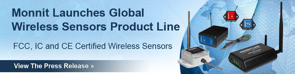 Monnit Launches Global Wireless Sensors Product Line
