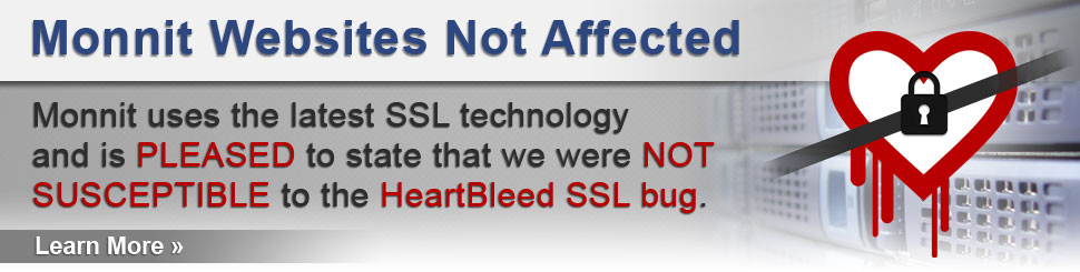 Monnit servers were never susceptible to the HeartBleed SSL Bug