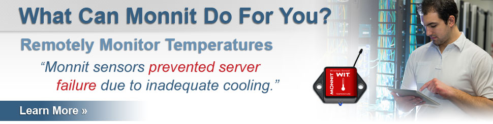 Monitor Data Center and Server Room Temperature and Humidity!