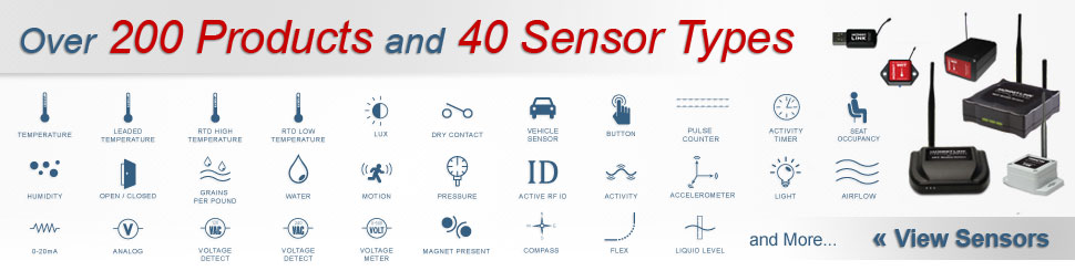 Monnit has over 200 products and 40 different sensor types!