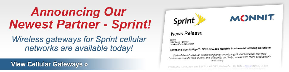 Monnit Announces Sprint Partnership