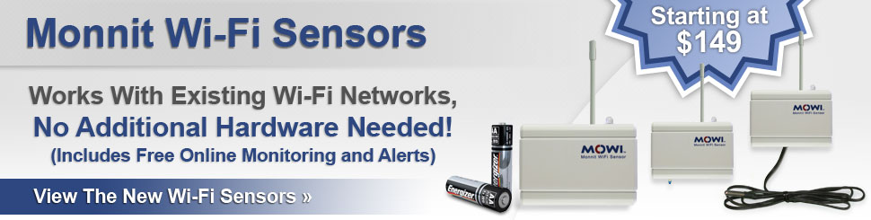 Monnit Wi-Fi Sensors for Remote Monitoring!