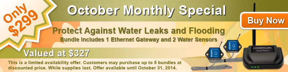 Monnit Monthly Web Special - October 2014