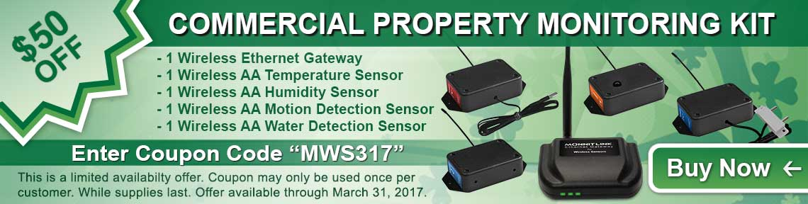 Monnit Monthly Web Special - March 2017
