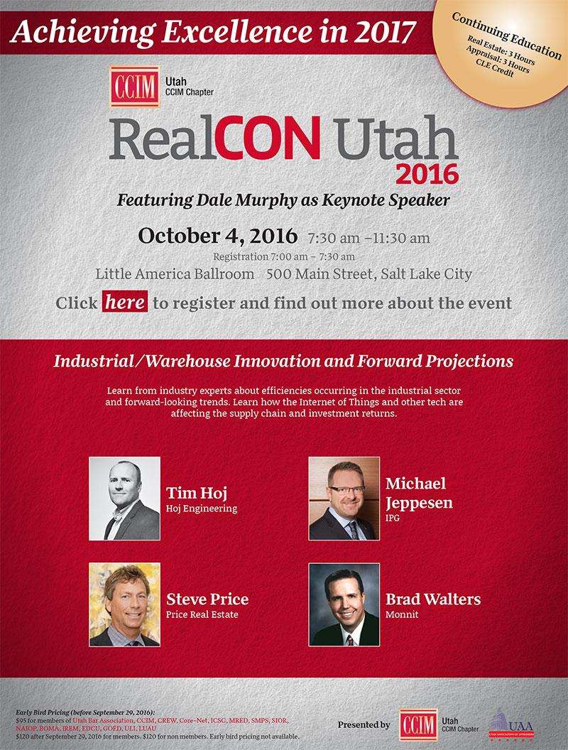 Monnit CEO Brad Walters to Present at RealCON Utah 2016