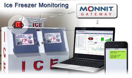 Monnit Wireless Sensor Solutions for Commercial Ice Freezer Temperature Monitoring