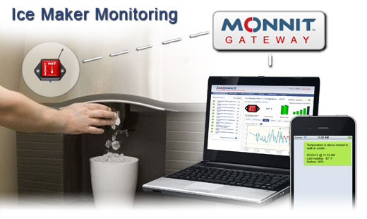 Monnit Wireless Sensor Solutions for Commercial Ice Maker Temperature Monitoring