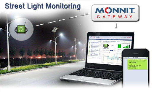 Monnit Wireless Sensor Solutions for Street Light Monitoring