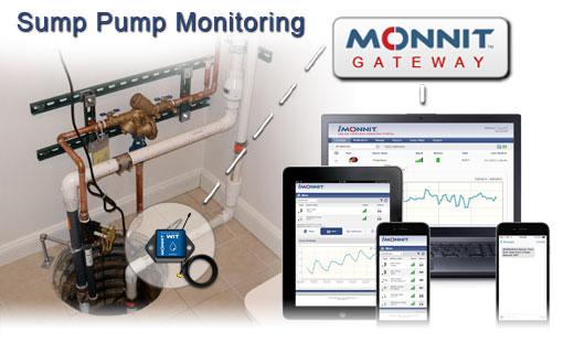 Sump Pump Monitoring System : Sump pump monitoring monnit corp