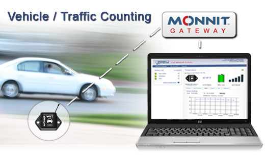 Monnit Wireless Sensor Solutions for Tracking and Counting Vehicles / Traffic